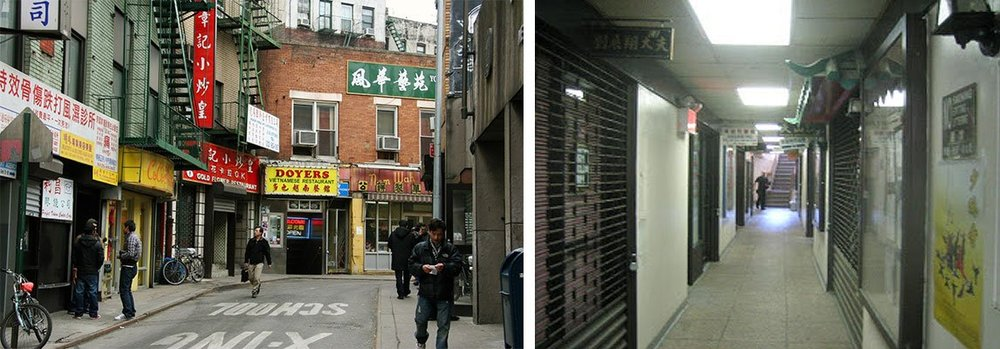Photos via the  Downtown Project (r) and  Vanishing New York (l)