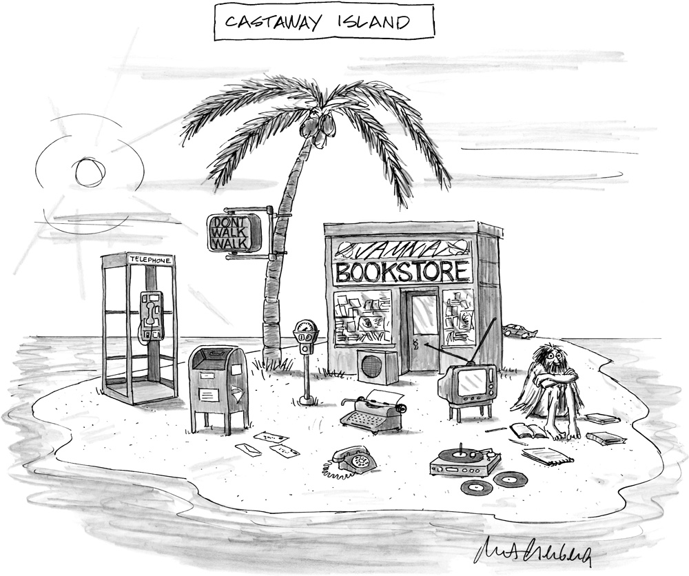"Mort Gerberg, ""Castaway Island,"" cartoon for the New Yorker, June 4, 2012 Courtesy of the New York Historical Societ"