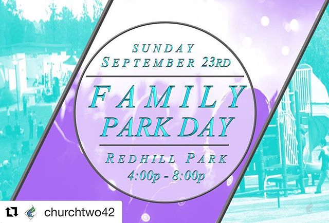 #Repost @churchtwo42 with @get_repost ・・・ THIS SUNDAY: YOU'RE INVITED!  ____ We're coming together this upcoming Sunday at Red Hill Park from 4-8:00 PM to bring joy, hope and love to our community! There will be free food, inflatables for the kids and live music. We want to extend our hand of friendship and hopefully bring happiness, encouragement and a smile to your family and friends. Also, we will NOT be having an 8:30 or 10:30 AM service Sunday morning, because we're having church AT THE PARK at 6:00 PM! 👏 ____ We can use all of the help we can get! If you'd like to volunteer, DM us or email us at connect@churchtwo42.com to see how you can get involved! 🙌