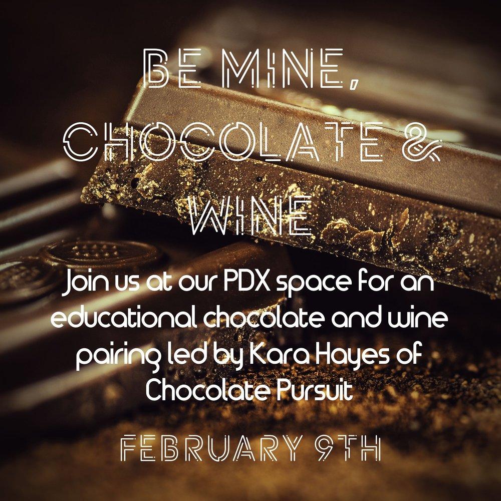 Chocolate Pursuit- Be Mine Chocolate and Wine.jpg
