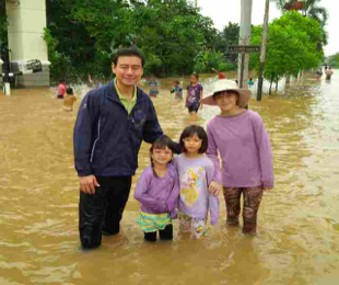 Going into the flood in West Jakarta to provide supplies for those affected