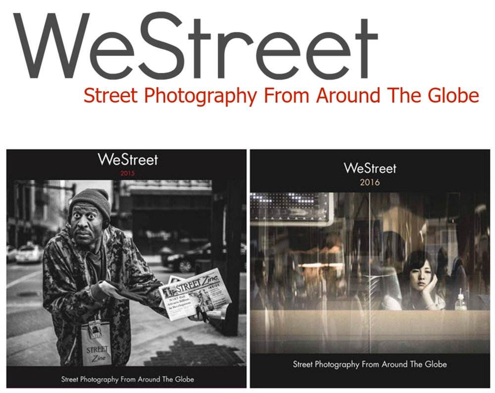 WESTREET 2015 &WESTREET 2016 - The collection of street photographs in these 2 books was carefully curated by a team of passionate photographers.WeStreet 2015ISBN: Softcover -9781364789725Dimensions: Standard Landscape, 10×8 in, 25×20 cmNumber of pages: 234WeStreet 2016ISBN:Softcover -9781366775016Dimensions:Size Standard Landscape, 10×8 in, 25×20 cmNumber of pages: 166Publisher: Blurb