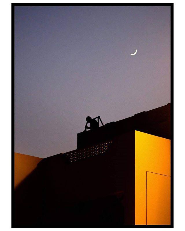 Qatar 2017 © Arek Rataj #qatar #middleeastern #hotel #architecturalphotography #geometryphotography #minimalism #streetlife_award #street #streetphoto #candid #underthemoonlight #moon #l4l #instadaily #travelphotography #photographyart #yellow #xpro2 #fujifilmx #fujifilm #natgeoyourshot #travel