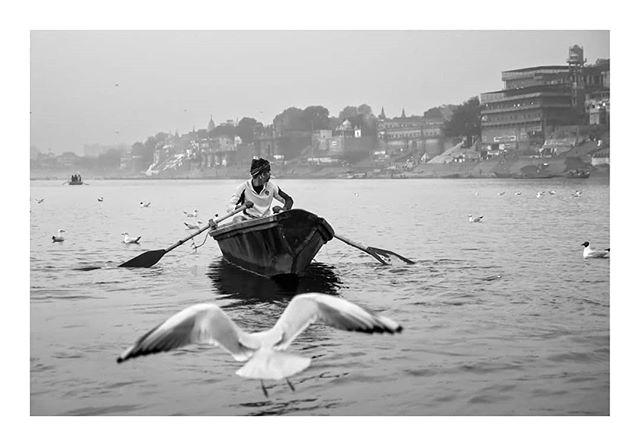 Varanasi, Ganges River, India 2018 © Arek Rataj  #india #varanasi #ganges #asia #worldstreetfeature #lensculturestreet #travel #travels #journeys #banaras #blackandwhite