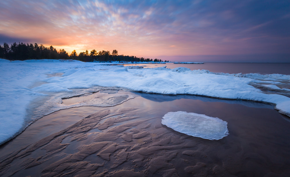 Winter Beach Landscape