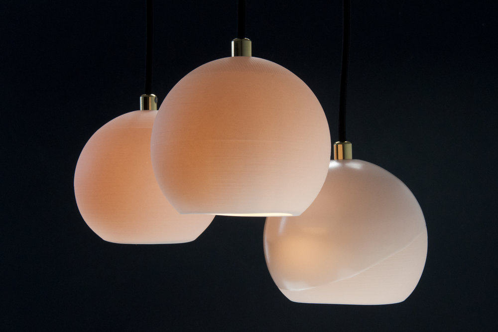 Translucent porcelain that delicately diffuses light from within. -
