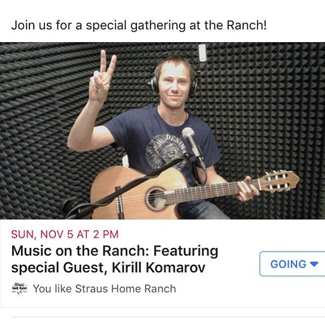 Check out www.facebook.com/StrausHomeRanch for details!! (Or email: StrausHomeRanch@gmail.com) #russianmusic #bayarea #farmparty