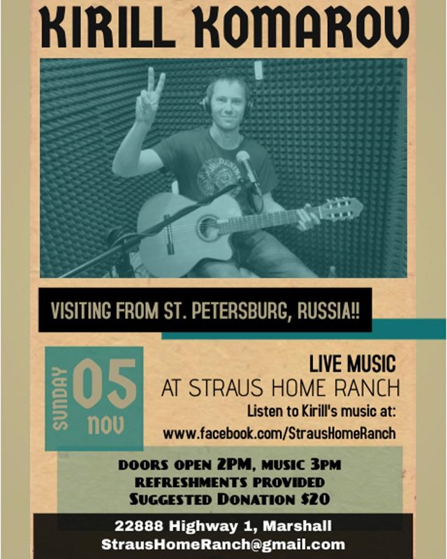 Music on the Ranch! Sunday, Nov 5 Hope you can join!
