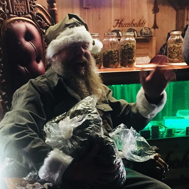 Canna Claus, with green treats for all! #CannaClaus #emeraldcup