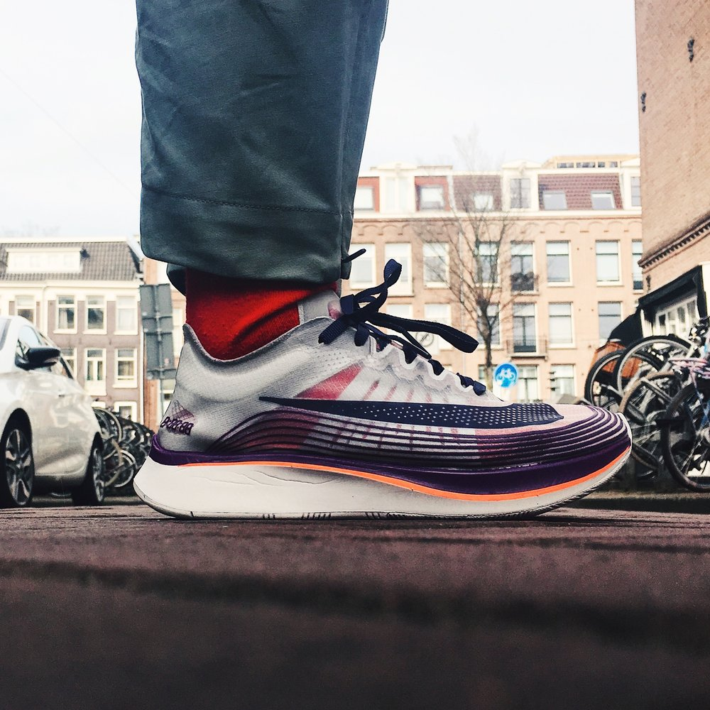 wholesale dealer 2b60a 6fbbb In celebration of Breaking2 project, Swoosh released the NikeLab Zoom Fly SP  in 2017. This one in the picture was one of the latest releases in 2018.