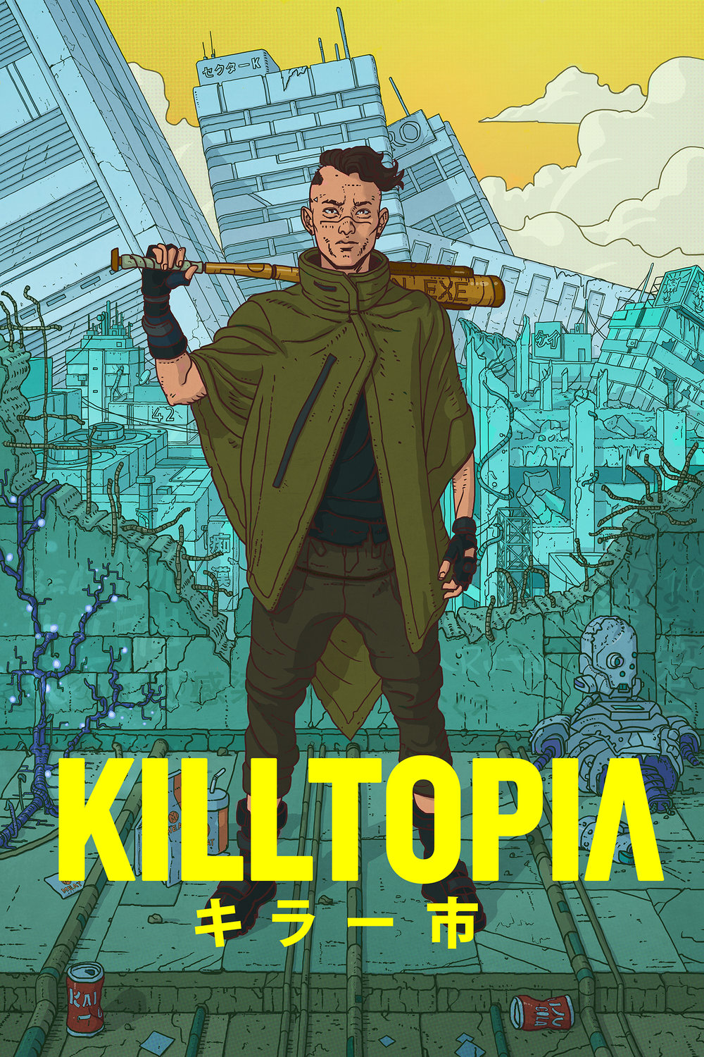 BHP Comics To Publish KILLTOPIA - BHP Comics are pleased to announce that they will be publishing Kickstarter success story KILLTOPIA by Dave Cook and Craig Paton. KILLTOPIA, a neon cyberpunk fantasy set in dystopian Japan,  attracted nearly 900 backers on Kickstarter, reaching over four times their intended target. Killtopia is a cyberpunk graphic novel series set in a mega-city in future Japan, where heavily-armed Wreckers hunt rogue mechs for money, fame and glory. Killtopia follows rookie Wrecker Shinji and Crash, the world's first sentient mech, as they are hunted as fugitives across the neon-soaked metropolis by Wreckers, android killers and Yakuza gangs. Shinji wants to save his sister. Crash wants to be more than a machine. They both want to make it out alive. Killtopia brings together influences from Manga, Japanese gaming and western comics, making a bright, punchy cyberpunk with a very human story. Dave Cook, KILLTOPIA's writer is thrilled with how the team has fallen into place: 'Killtopia is our first series as writer and artist, while the addition of letterer Rob Jones has made for something of a dream team. I think cyberpunk fans and comic readers in general are going to love what we're making!' KILLTOPIA'S artist, Craig Paton, is keen to reach a wider audience: 'What excited me most about joining BHP Comics is that, as well as allowing us to get our work out to a much bigger audience, it's very cool to be part of something promoting Scottish art and talent to the wider world. ' 'We couldn't be more excited to join the BHP family for many reasons; one of those being that they are a fellow Scottish outfit,'  Says Cook, 'It means a lot to us that we can take our first step as published creators and help fly the flag for Scotland's ever-expanding comic industry.''Killtopia captures the  readers appitite for genre based sci-fi books and it immediately caught our attention,' says Sha Nazir, BHP Comics' Publisher, 'This is the first time BHP have acquired a book funded by Kickstater and we are really pleased to add to the books success by increasing its visibility through the book industry and excited to bring this new world to our readers in September.'