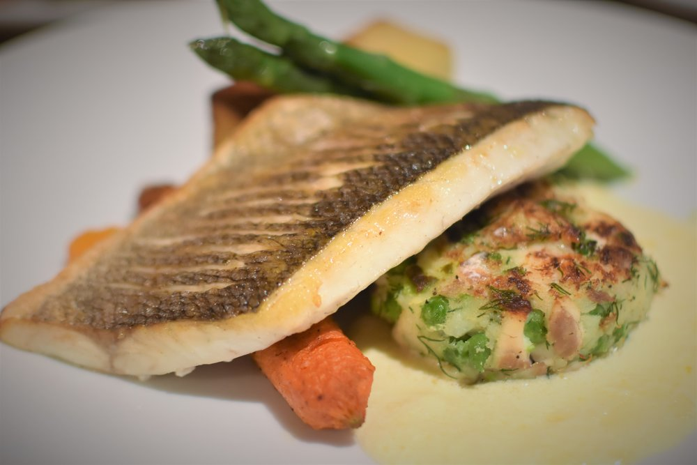 Sea bass main course