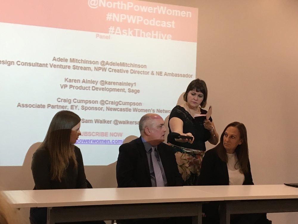 Adele Mitchinson, Craig Cumley, Karen Ainley and podcast host Sam Walker
