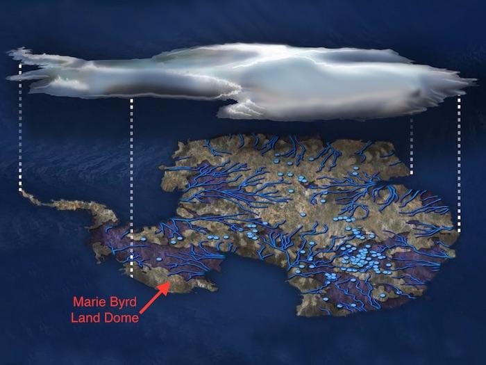 南极洲的地下湖。(国家科学基金会/泽娜·德列茨基)