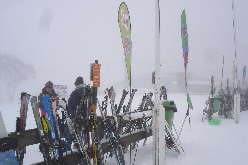 Mt Selwyn滑雪场。作者摄影