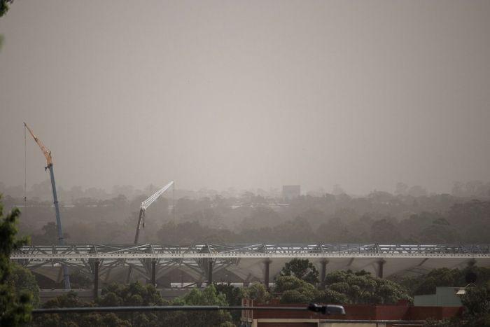 今早Parramatta中心拍摄到的情景(照片来源 ABC News: Jonothan Hair)