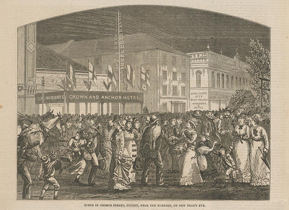 1879年1月4日的悉尼市区