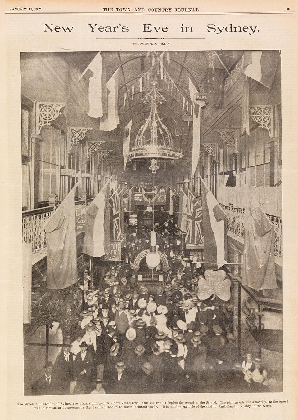 1902年1月11日报纸对新年跨年夜的报道