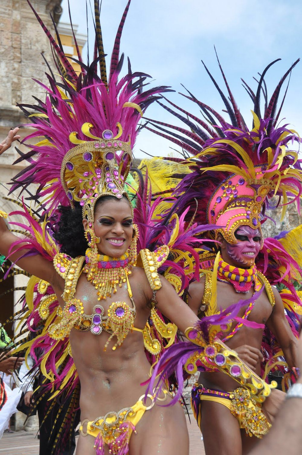 哥伦比亚狂欢节(作者摄)