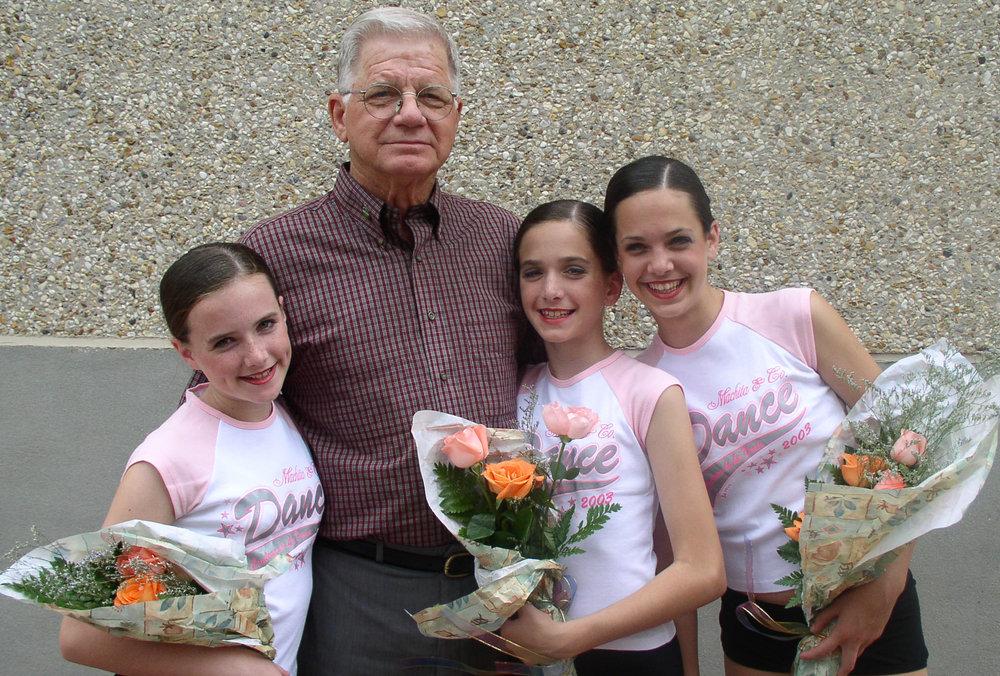 pe-paw and girls recital 2003.jpg