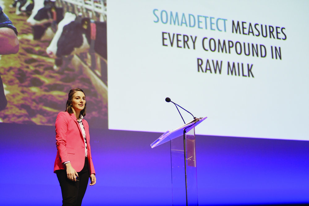 Bethany Deshpande pitching SomaDetect at the 43North startup competition. (Submitted photo)