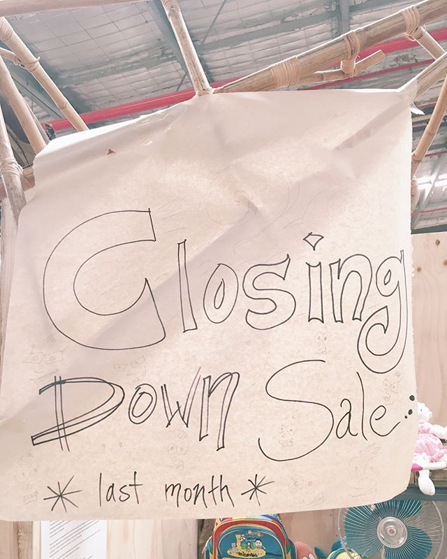Yep. Sign says it all.  A motley assortment of bargains down at 313 until the end of the month 🤗