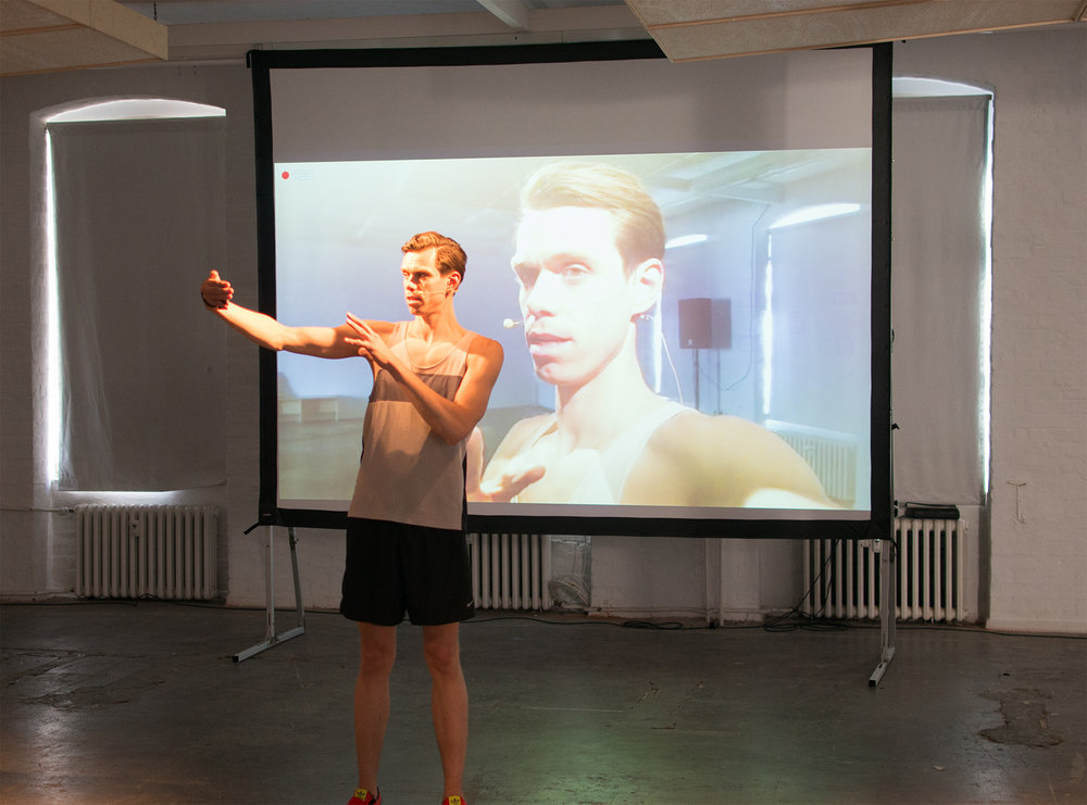 Extended I Exercise, a workshop/performance created by Dafna Maimon