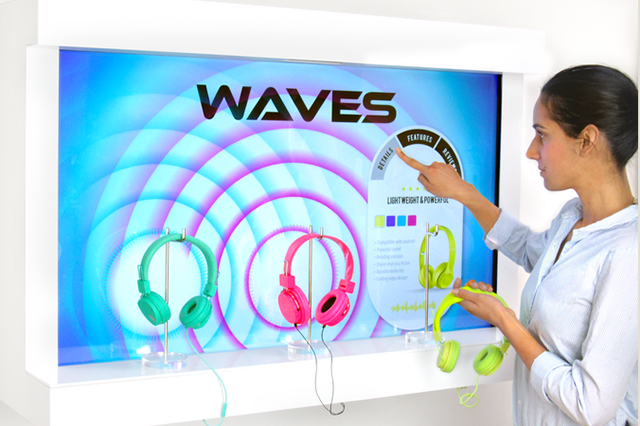 Headphones - Multi-user Interactive retail display for headphones and electronics