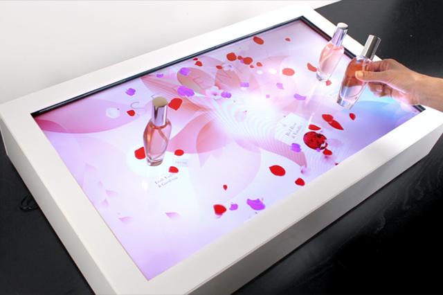 Fragrance - Interactive table for retail marketing.