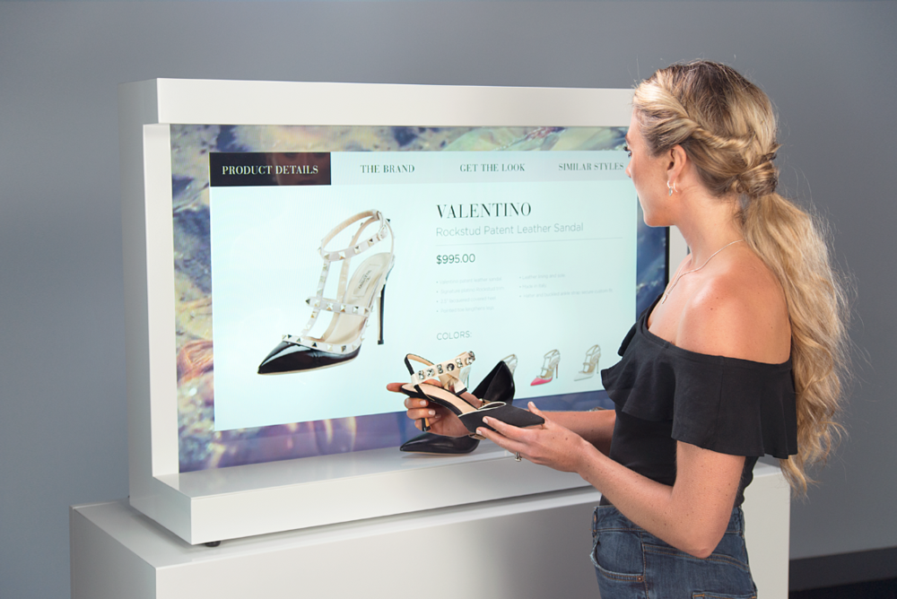 Neiman Marcus - Large, interactive retail shelving display for shoesthat drove 40% sales lift