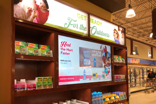 Johnson & Johnson - Interactive product shelf highlights 30 products across over 15 brands with videos, ratings and reviews and more.