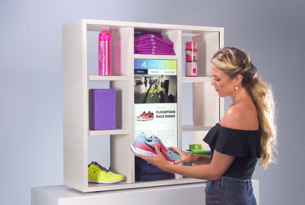Athletic Products - Multi-shelf athletic product demo