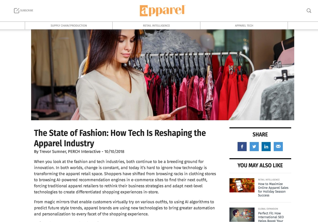 Apparel Magazine - The State of Fashion: How Tech Is Reshaping the