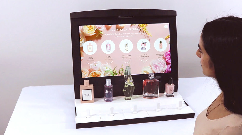 Macy's Fragrance Destination - Interactive fragrance display