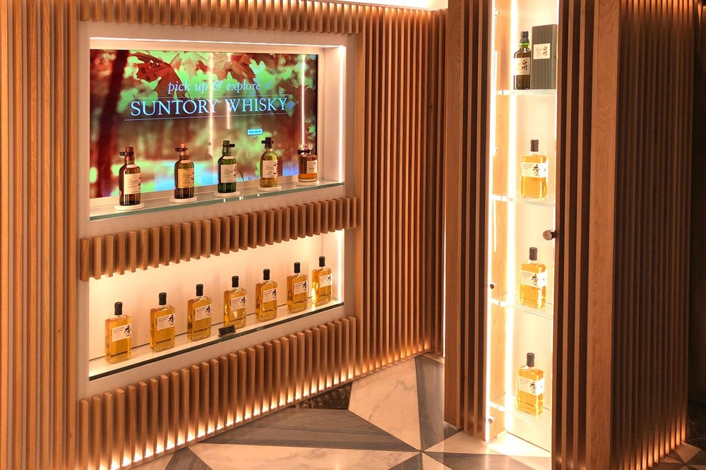 Beam Suntory at Harrod's - Invite customers to pick up one of the products on the shelf and explore its history and features.