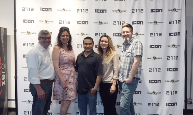 Roderick Kelly, Michele Kelly, 2112's Rob Tovar, Khepri Renewal CEO Tatum Drewes, and InteGRAYted Creative Director Frankie Gray.