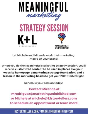 Get clear.Get jazzed.Get meaningful.About your marketing. -