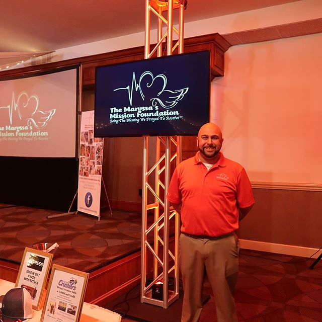 Red was the color of choice for this event!  This past Sunday we provided lighting, and video displays for The Maryssa's Misson Foundations second annual spring banquet. @themaryssasmissionfoundation @ahernbanquetcenter