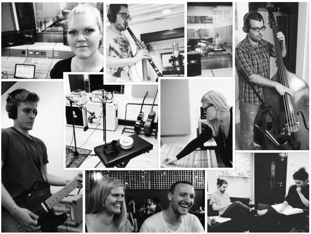 Happy times and hard work recording Sinking Island in London - summer of 2016