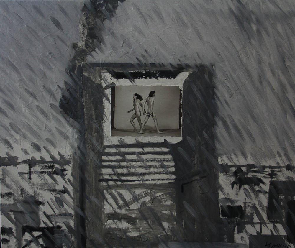 In the rain,2013 ,50cm x 60cm, Oil on canvas.jpg