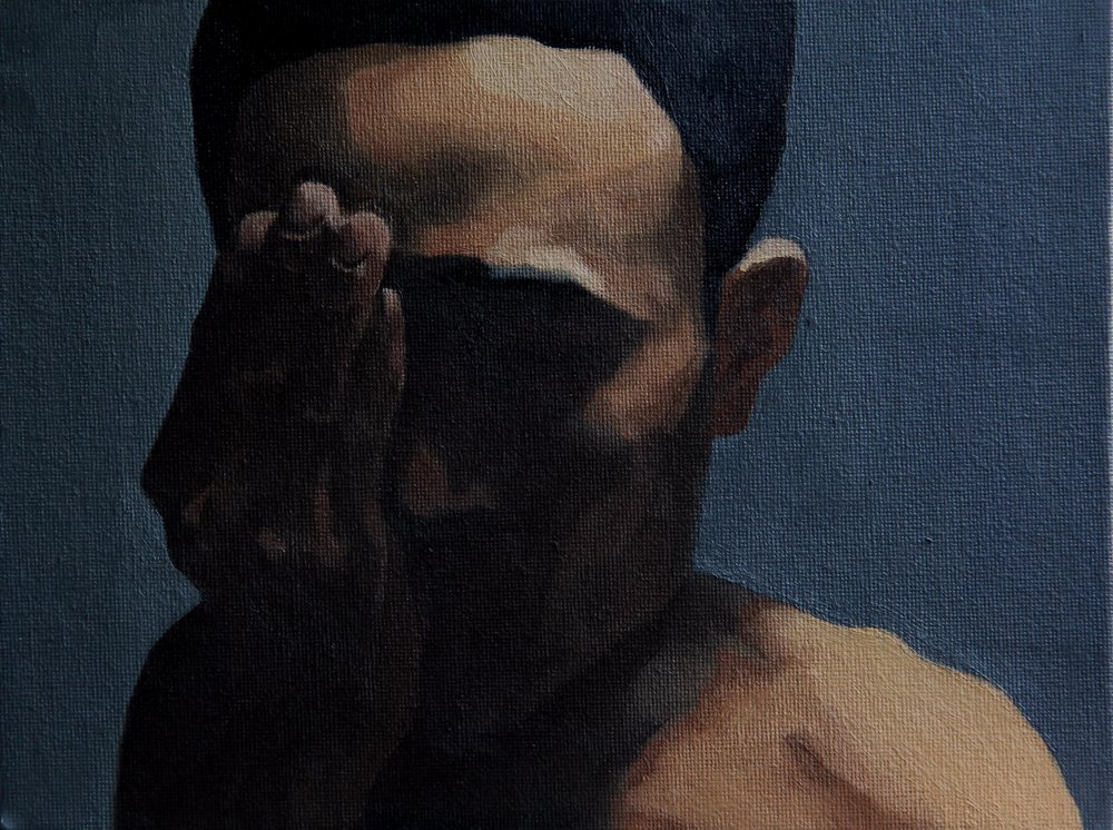self portrait,2011,18cm  x 24cm, Oil on canvas.jpg