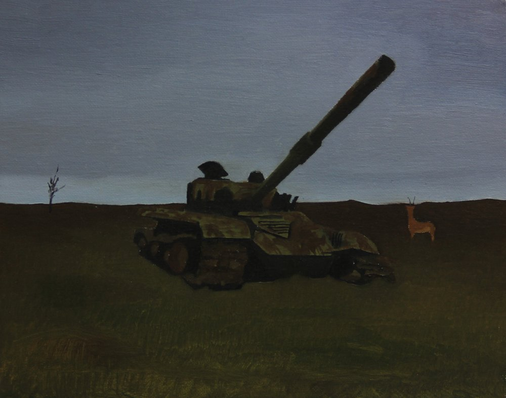 Tank, 2013 , 24cm x 30cm, Oil on canvas.jpg