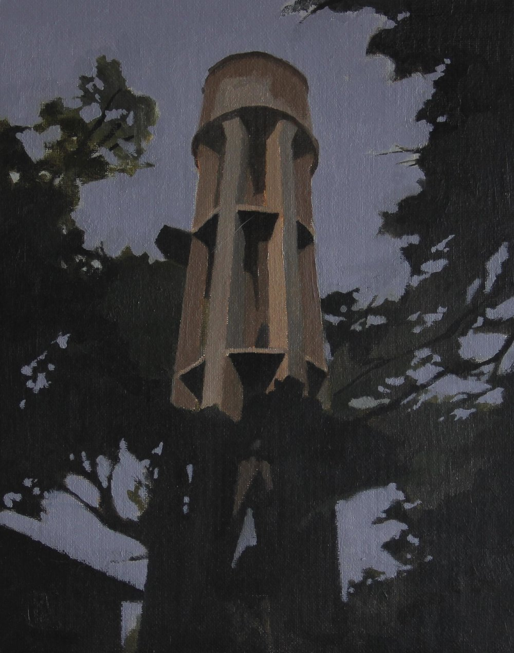 Water tower 2   2011 , 24cm  x 30cm, Oil on canvas.jpg