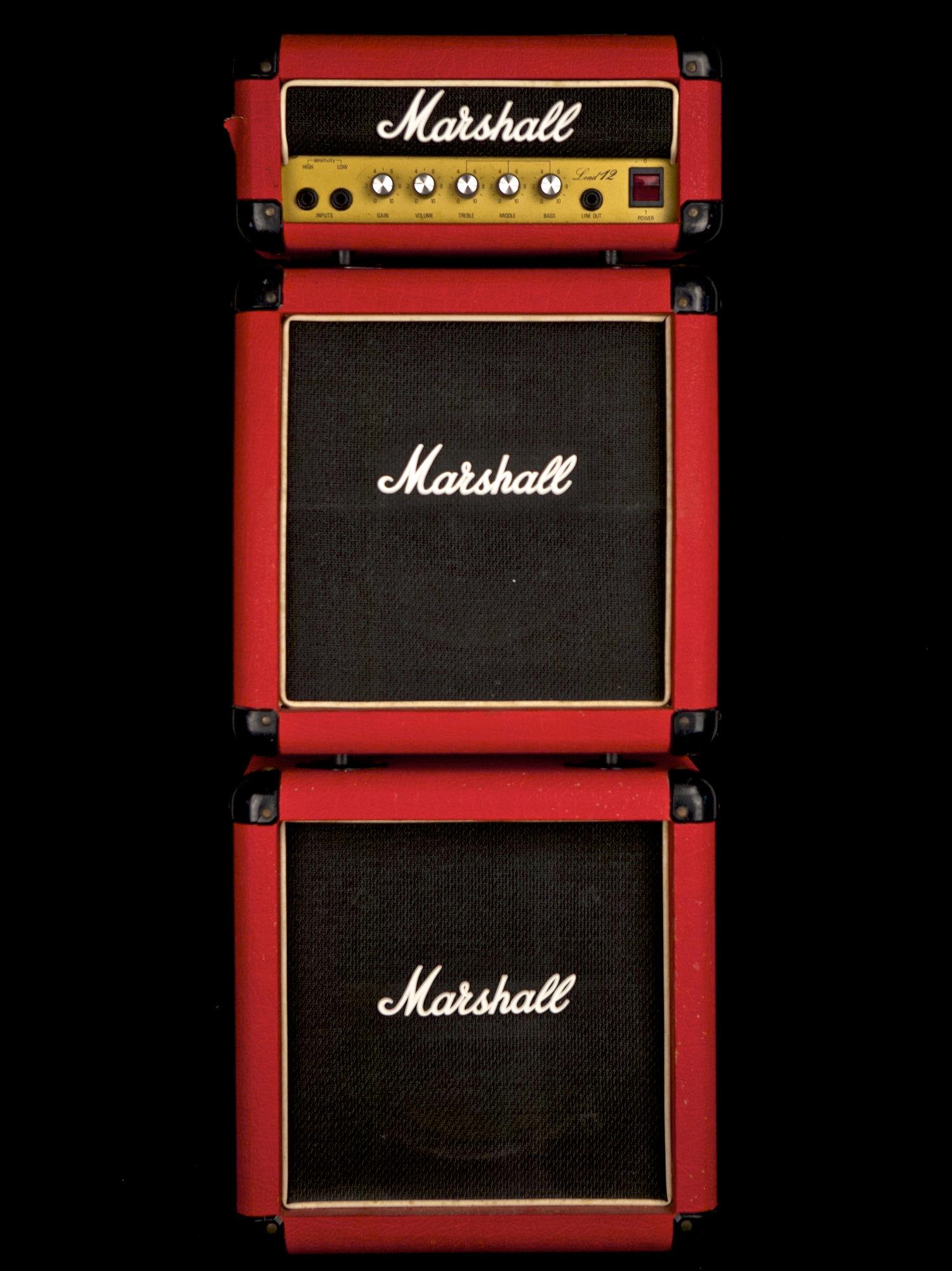 1990 Marshall Lead 12 Mini Stack Red — Vinstrum