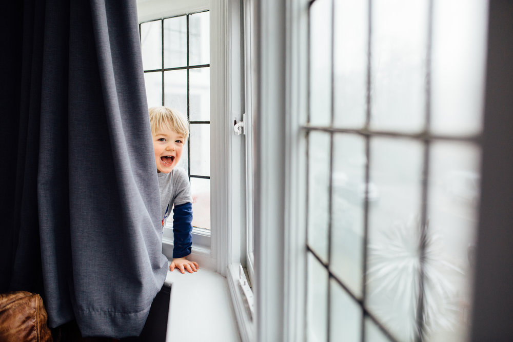Toddler Peekaboo, Earlsfield In-home Family Photography