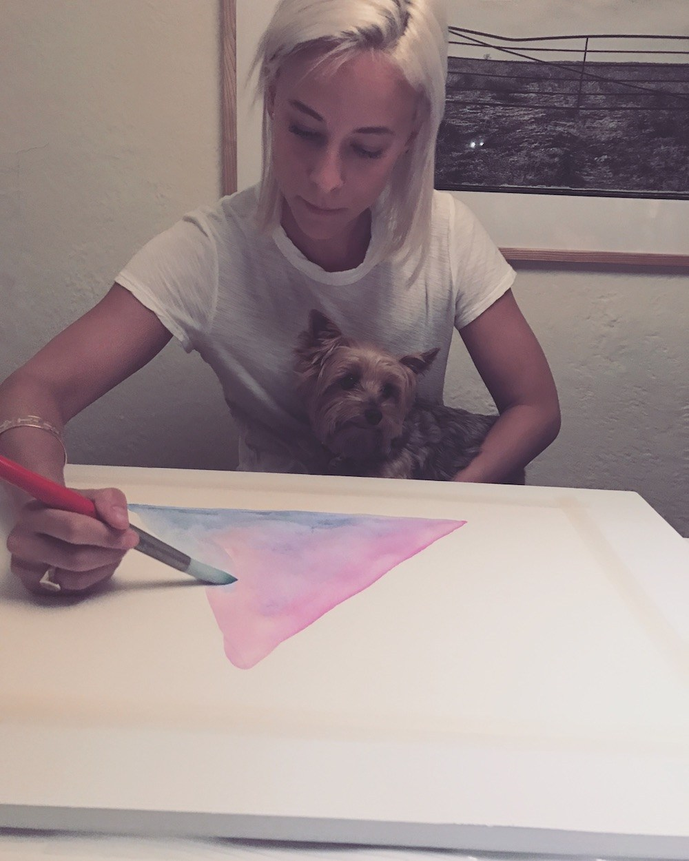 Susy's hobbies: Painting and TLC with Beau