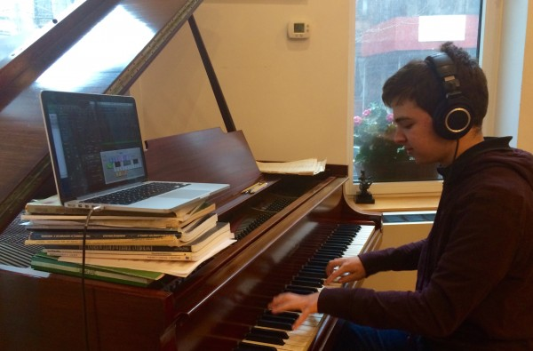 the composer at work -