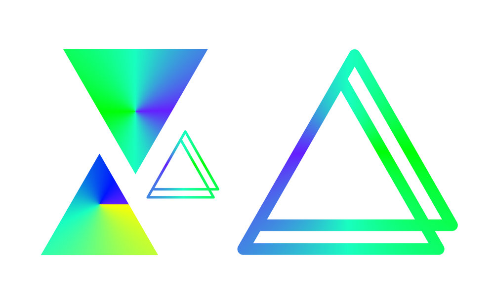 ↑   blending brand colours into one angular gradient