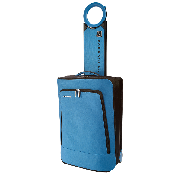 """Expandable Carry-On  - 22"""" soft-side carry-on bag - Features a drop-down tray with twin cup holders that offers you a convenient shelf for a drink, snack, laptop, or tablet - Includes a portable battery designed to charge your phone and a portable digital scale"""
