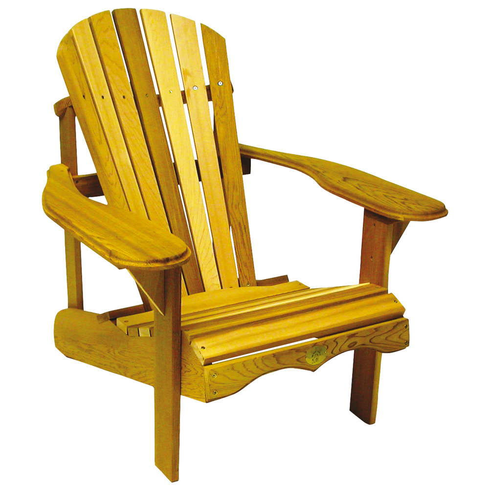 Muskoka Chair  - Made of durable FSC-Certified Eastern White Pine - Yellow - Made in Canada